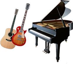 楽器のイメージ(ピアノ・ギター)